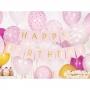 Guirnalda Happy Birthday rosa de 15x175 cm