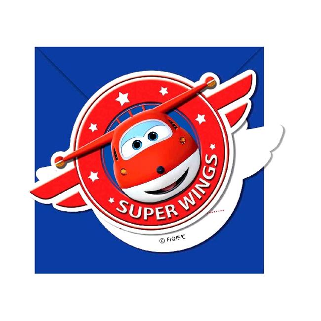 Invitaciones de Cumpleaños Super Wings