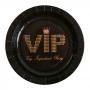 Juego 10 Platos Negros VIP 23 cm
