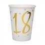 Juego 10 Vasos 18 años Oro 220 ml