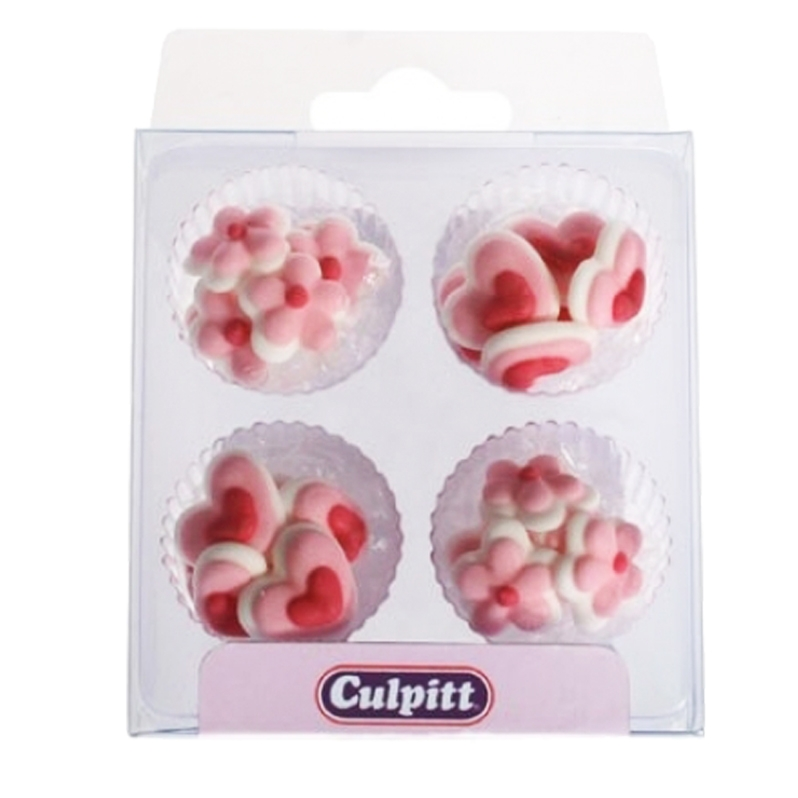 Juego 24 mini decoraciones Hearts & Flowers