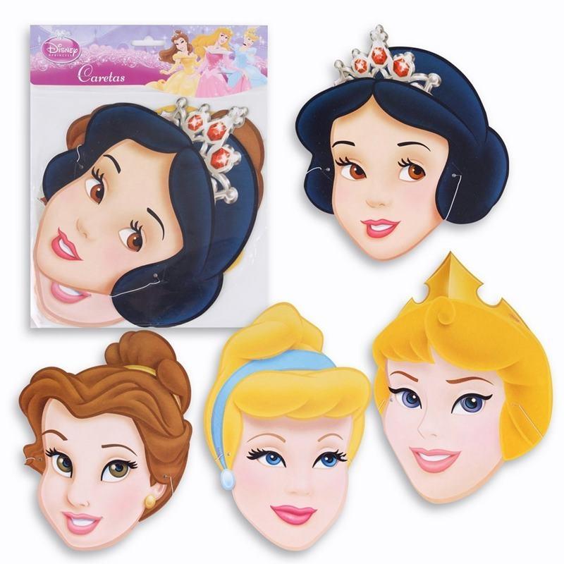 Juego 6 caretas Princesas Disney