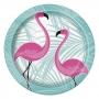 Juego 8 Platos Flamingos Rosas 22 cm