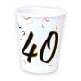 Juego 8 Vasos 40 Cumpleaños