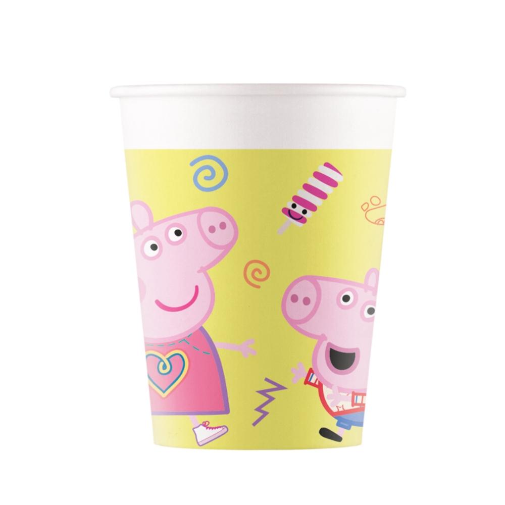 Juego 8 vasos Peppa Pig - My Karamelli