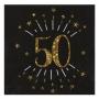 Juego de 10 Servilletas Negras 50 Cumpleaños