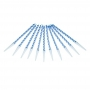 Juego de 10 Velas azules 6 cm