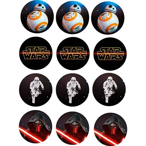 Juego de 12 impresiones en Oblea Star Wars