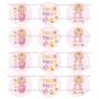 Juego de 12 Impresiones en Papel de Azúcar Baby Girl Modelo A 6 cm