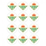 Juego de 12 Impresiones en Papel de Azúcar Real Betis