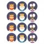 Juego de 12 Impresiones en Papel de Azúcar Reyes Magos