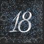 Juego de 16 Servilletas 18 Cumpleaños Azul