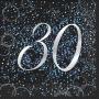Juego de 16 Servilletas 30 Cumpleaños Azul