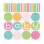 Juego de 16 Servilletas Baby Colores Pastel