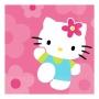 Juego de 16 servilletas Hello Kitty