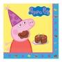 Juego de 16 Servilletas Peppa Pig Cumpleaños