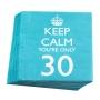 Juego de 20 servilletas 30 cumpleaños