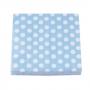 Juego de 20 Servilletas Azules con Lunares Blancos - My Karamelli