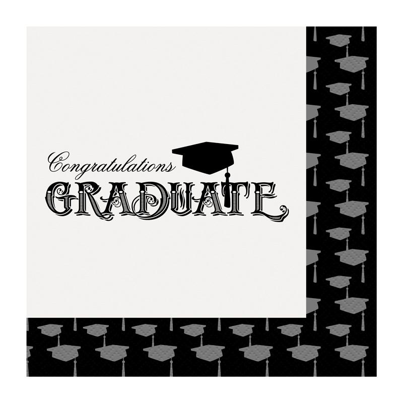 Juego de 20 Servilletas Graduación