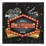 Juego de 20 Servilletas Negras Hollywood