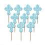 Juego de 36 cruces azules para decorar