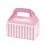 Juego de 4 cajas para dulces rosa y blanco