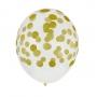 Juego de 5 globos Confeti dorados