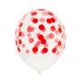Juego de 5 globos Confeti rojos