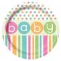 Juego de 8 Platos Baby Colores Pastel 22 cm