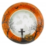Juego de 8 platos cementerio Halloween