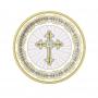 Juego de 8 Platos Comunión Cruz Dorada 17cm