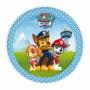 Juego de 8 platos con personajes de la Patrulla Canina de 18 cm en azul