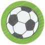 Juego de 8 platos de 23 cm con un balón Fútbol Kicker