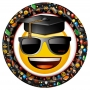Juego de 8 Platos Emoji Graduado 22 cm