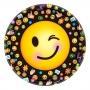 Juego de 8 Platos Emoticones / Emoji 23cm