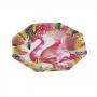 Juego de 8 Platos Flamingo Fun 25 cm