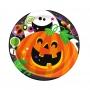 Juego de 8 Platos Happy Halloween 17cm