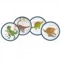 Juego de 8 Platos Jurassic World 22 cm