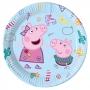 Juego de 8 Platos Peppa Pig y George 23 cm