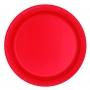 Juego de 8 Platos Rojos 22 cm