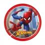 Juego de 8 Platos Spiderman 20 Cm