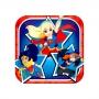 Juego de 8 Platos Super Hero Girl 17cm