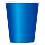Juego de 8 Vasos Azul Intenso
