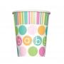 Juego de 8 Vasos Baby Colores Pastel