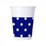 Juego de 8 Vasos Blue Royal Dots