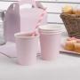 Juego de 8 Vasos Rosa Pastel con Lunares
