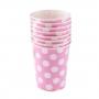 Juego de 8 Vasos Rosas con Lunares Blancos - My Karamelli
