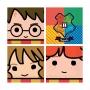 Juego de 16 Servilletas Personajes Harry Potter 17 cm