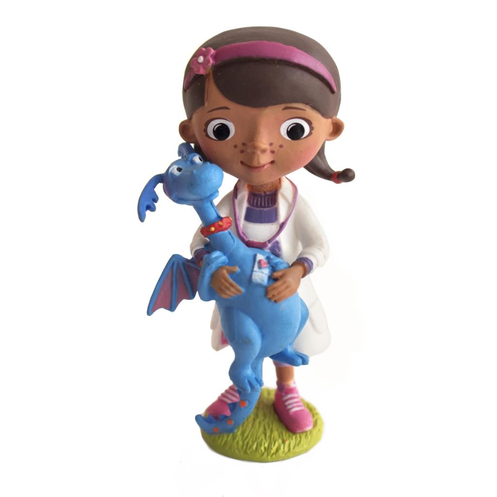 Figura Decorativa Doctora Juguetes con Dragón 7,5cm