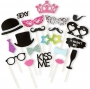 Kit de 20 Accesorios para Photocall Wedding Party